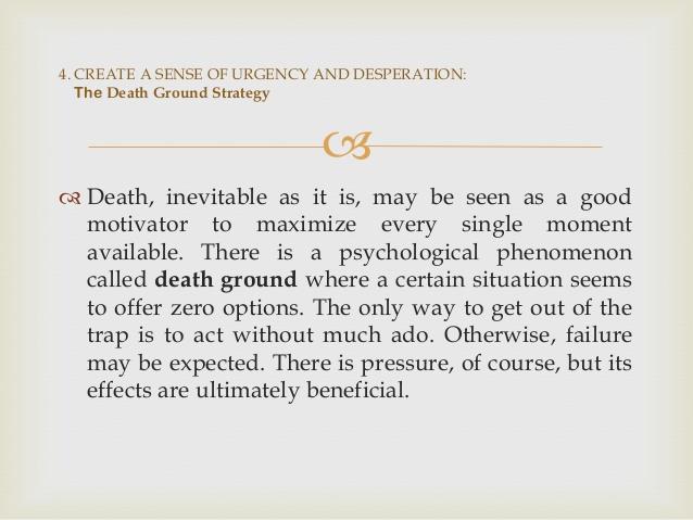 33 Strategies of War Death Ground Strategy