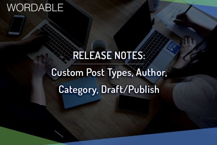 Wordable - Custom Post Types