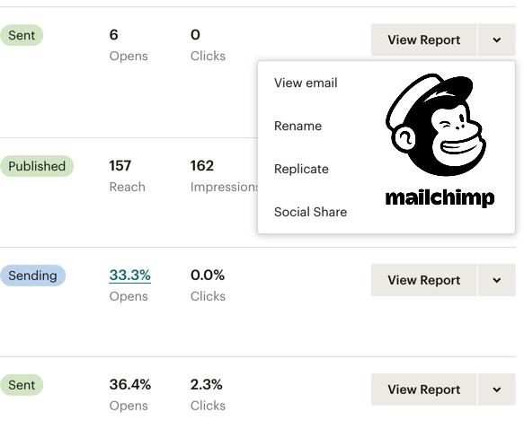 sample automation tool from MailChimp