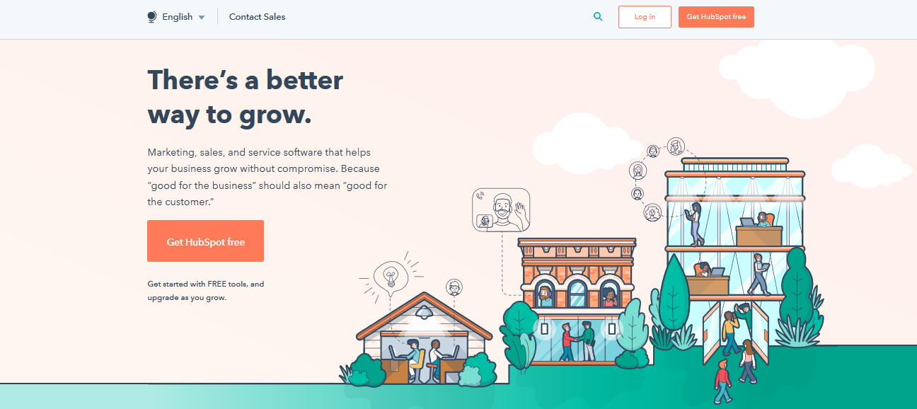 This is HubSpot's homepage.