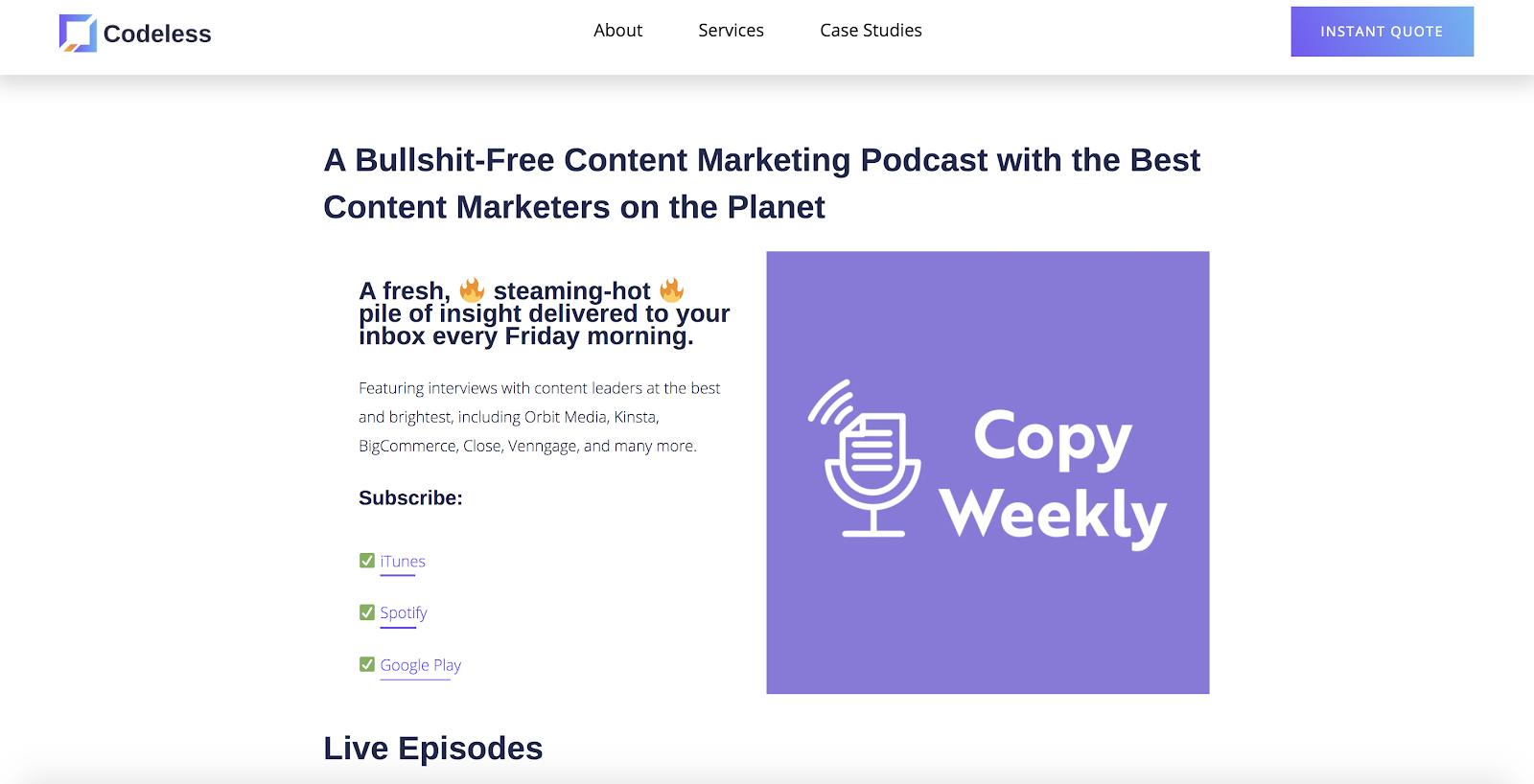 Copy Weekly