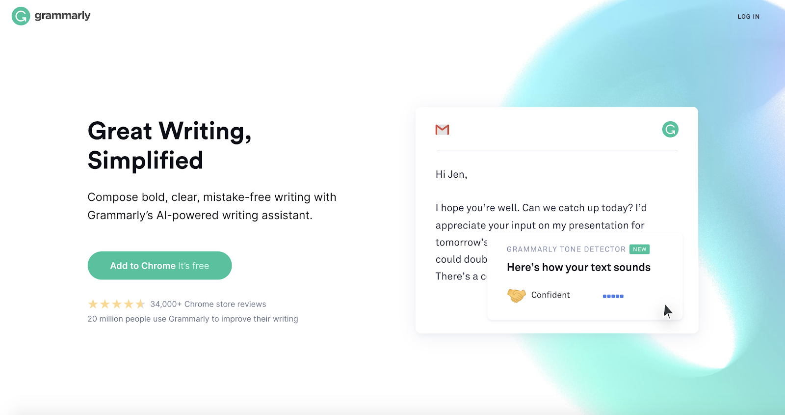 This is the Grammarly add-on.