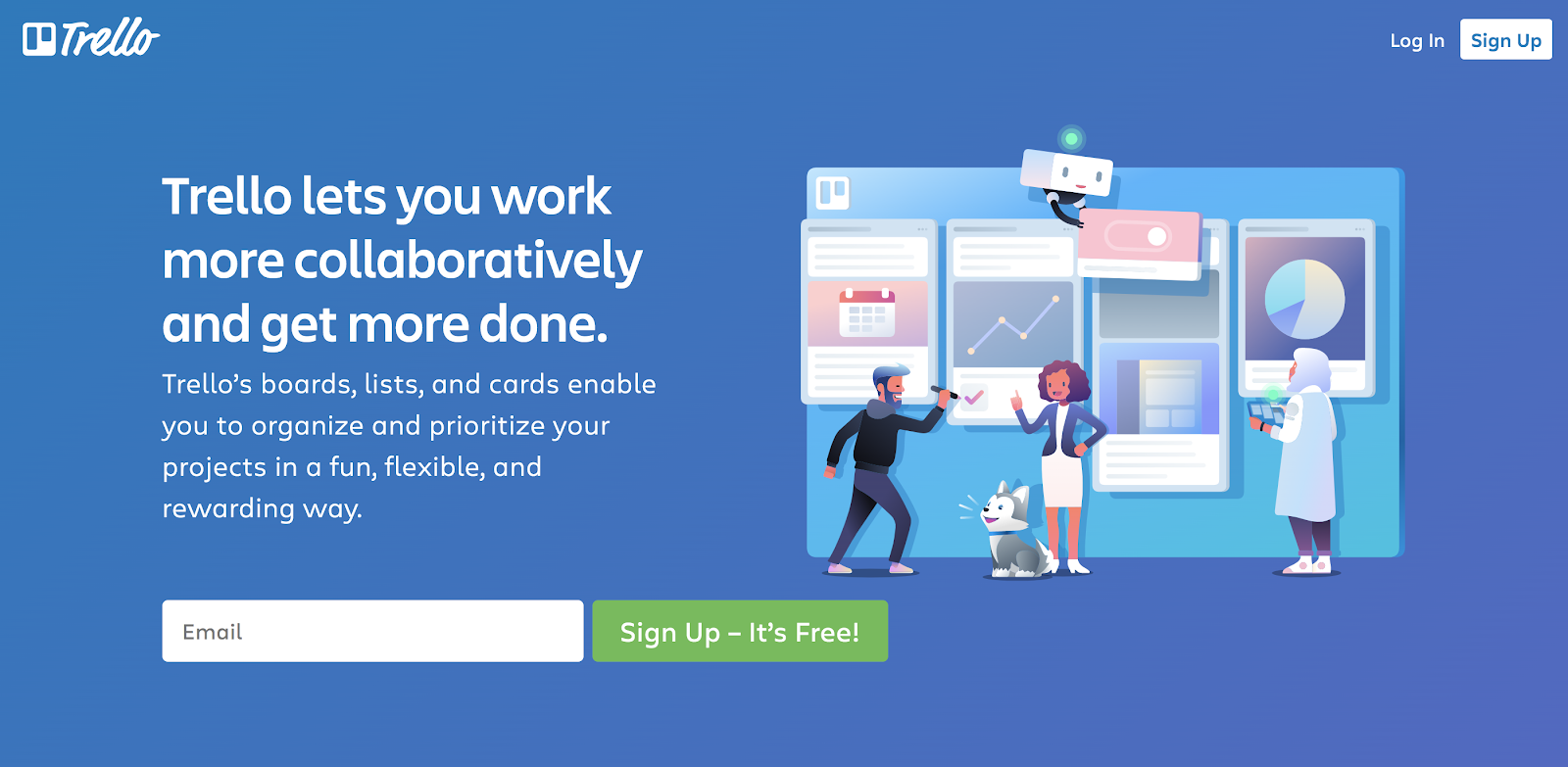 This is Trello's homepage.