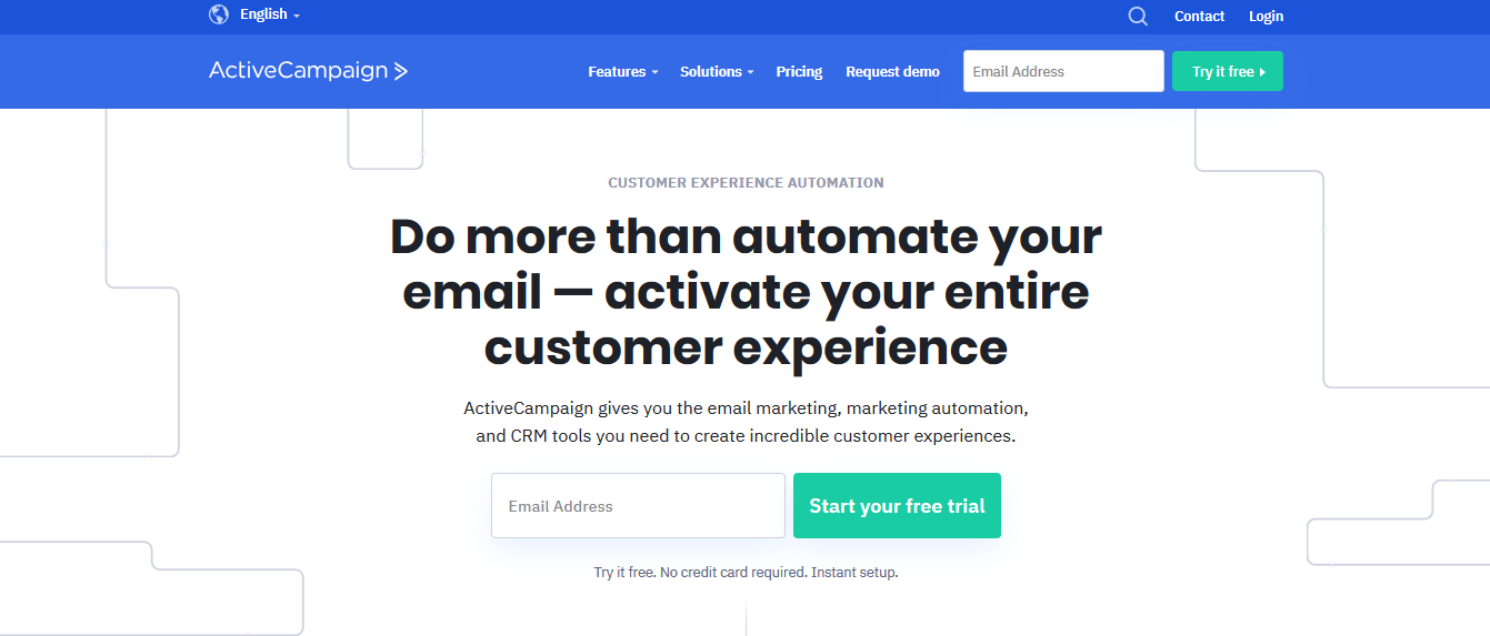 This is ActiveCampaign's homepage.