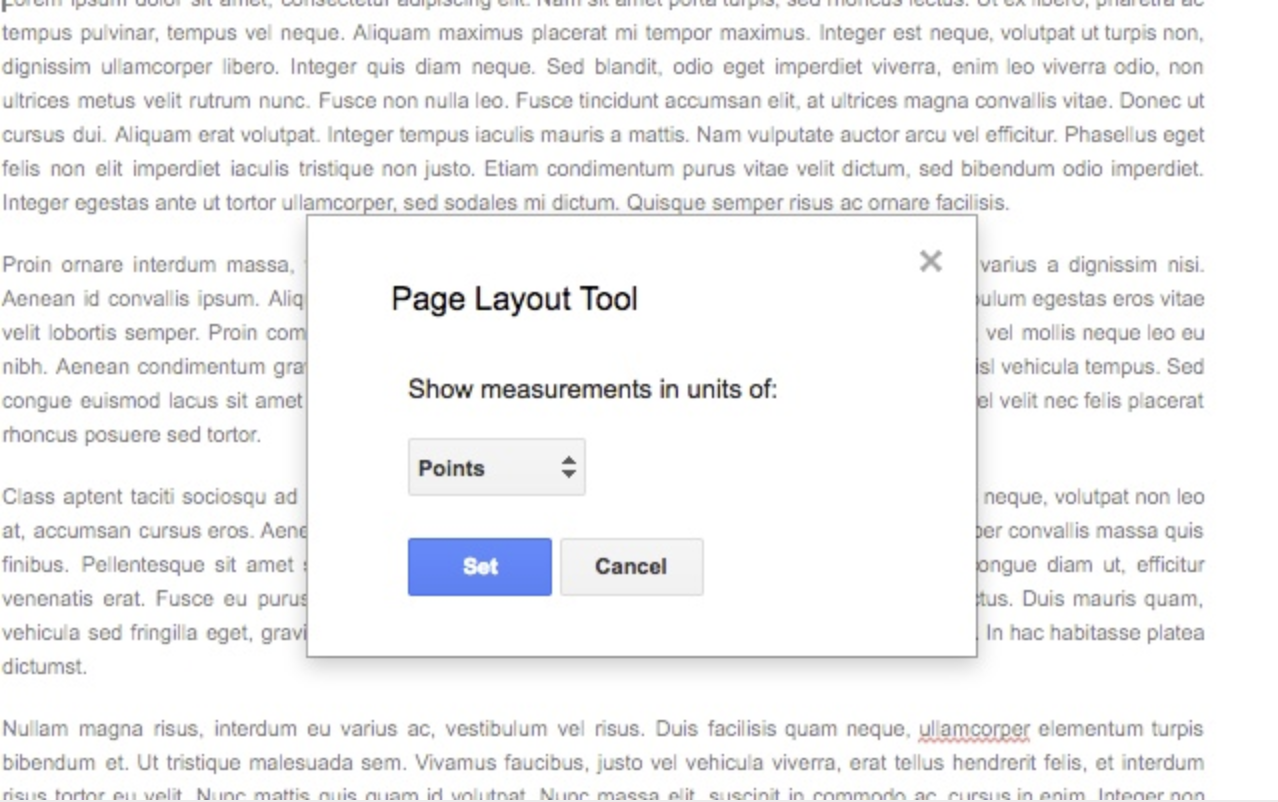 Page Layout Tool add-on