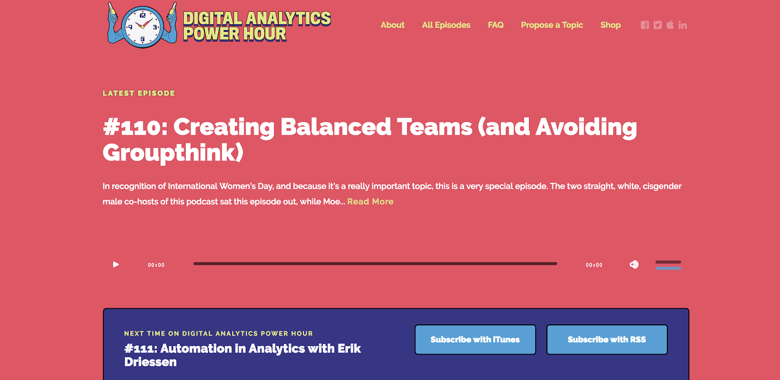 Digital Analytics Power Hour