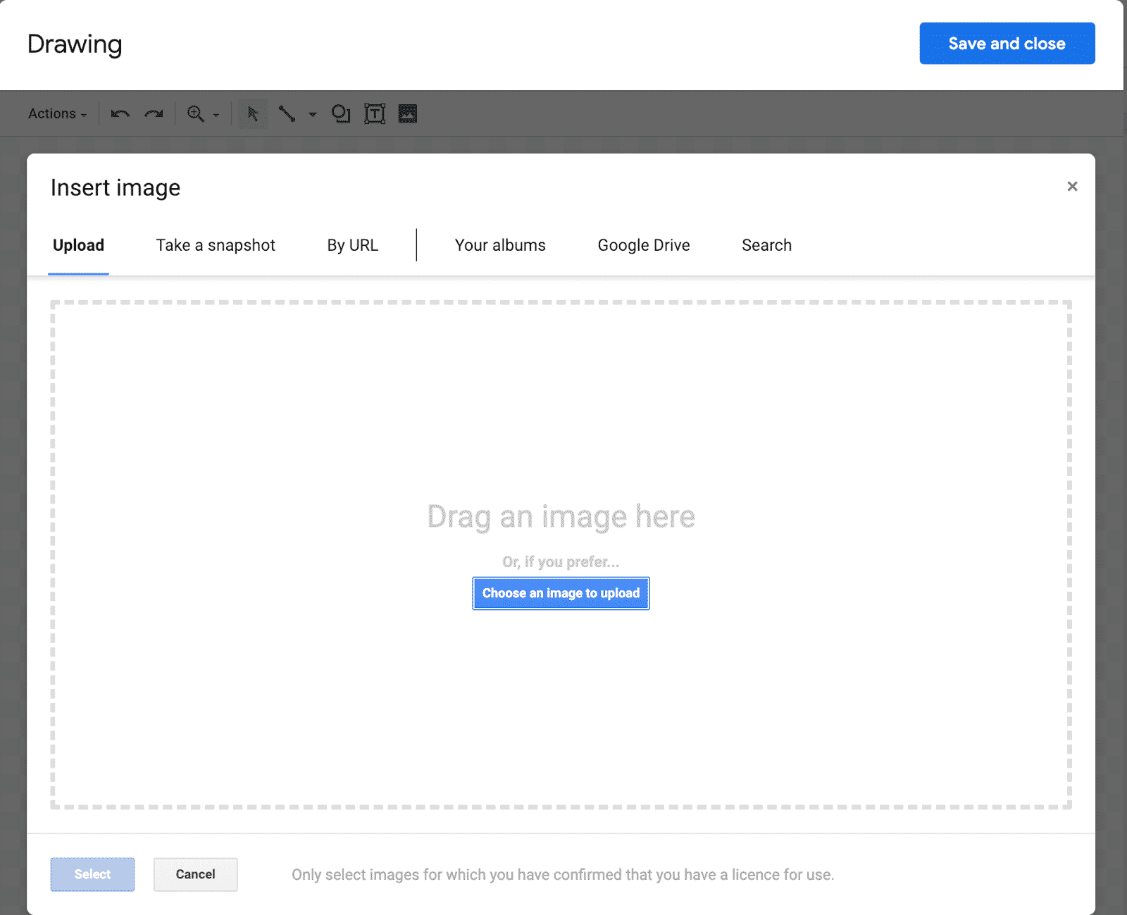 This is where you can find the option to upload an image.