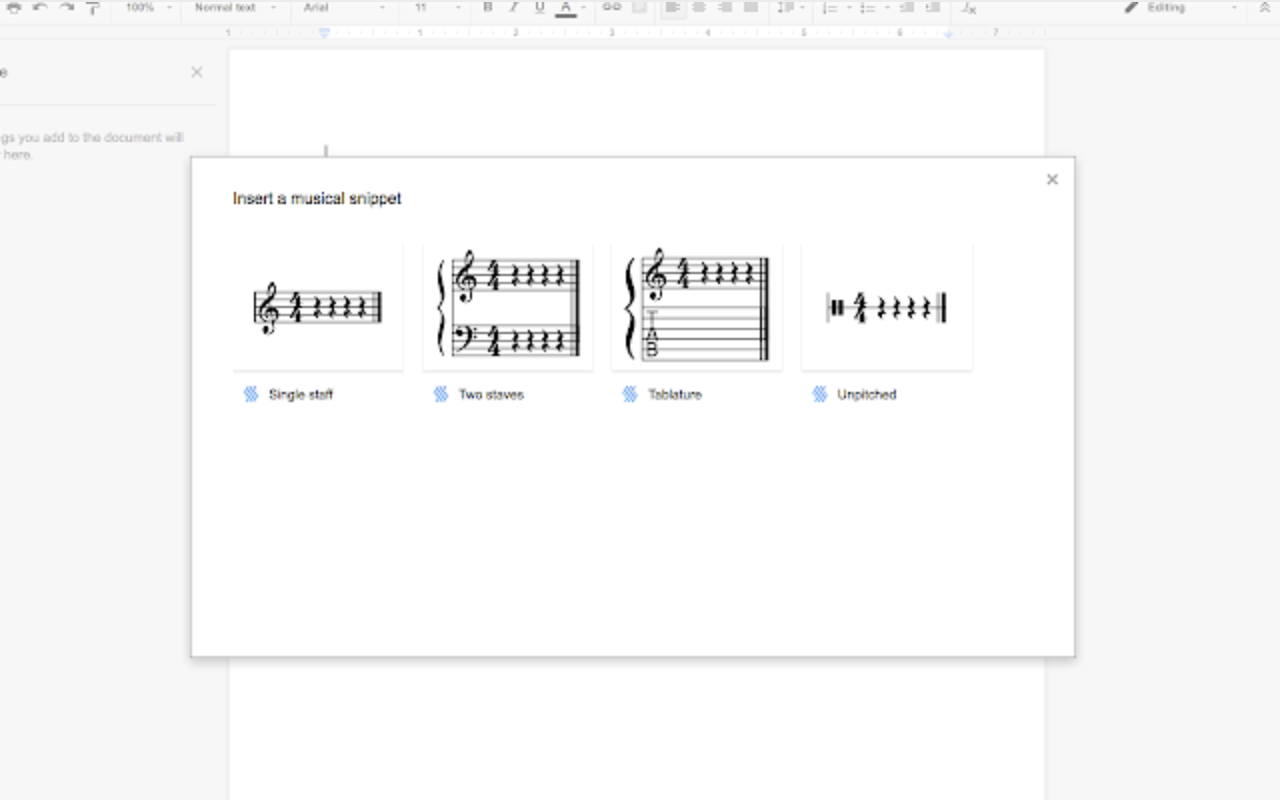 Flat Music Notation add-on