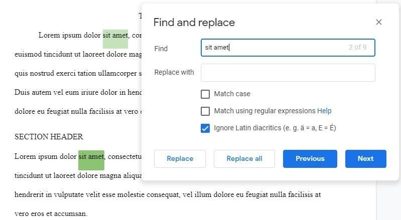 Google Docs word search word search tool