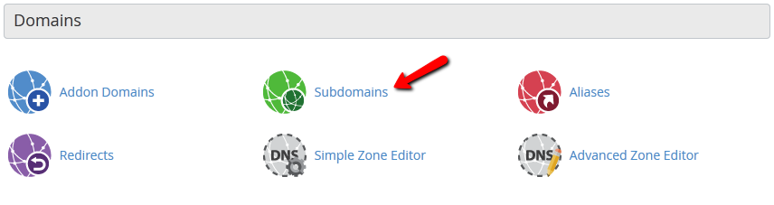The cPanel is where you could locate the subdomains.