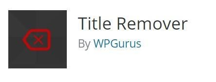 This plugin removes the page title.