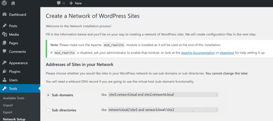 This is WordPress Multisite.