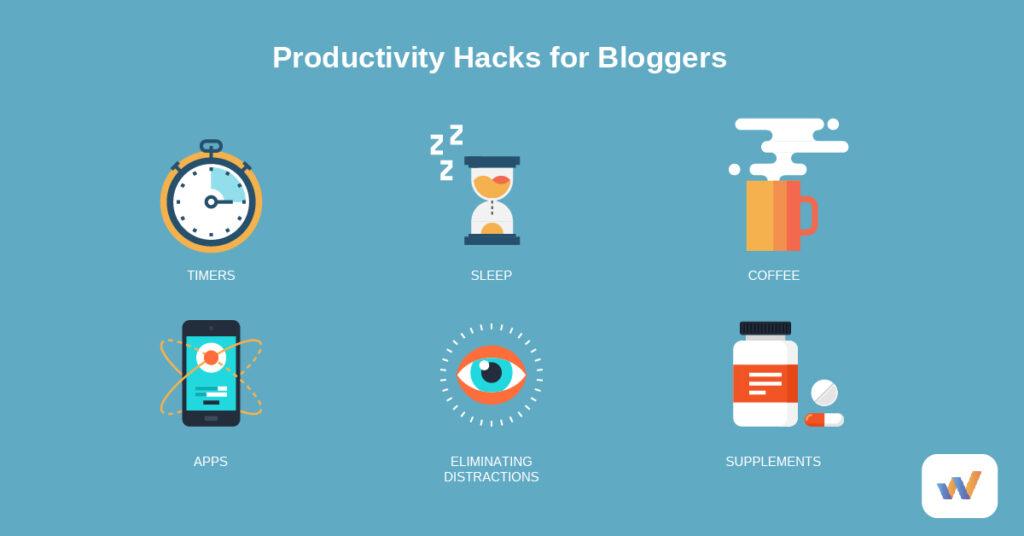 icons of productivity hacks
