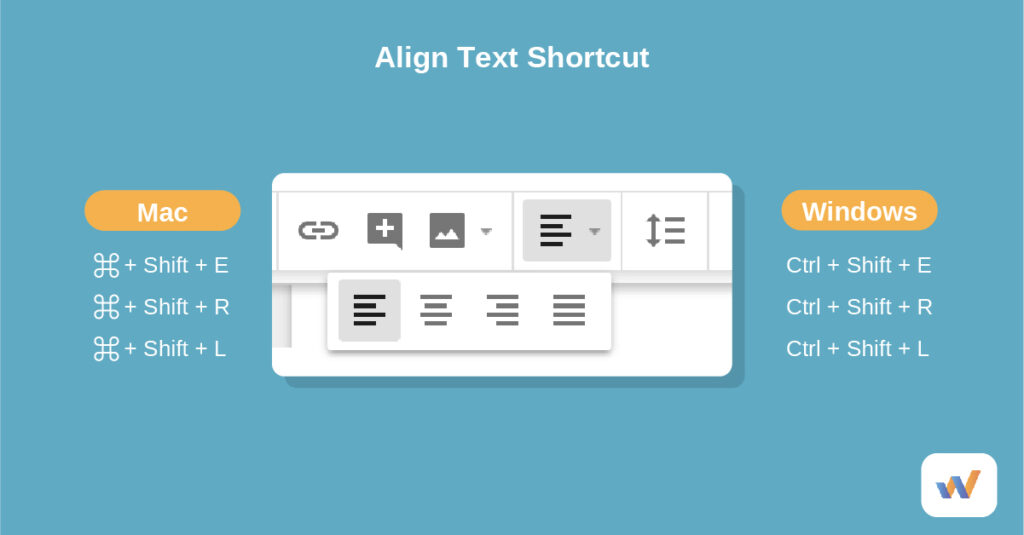 align text and images