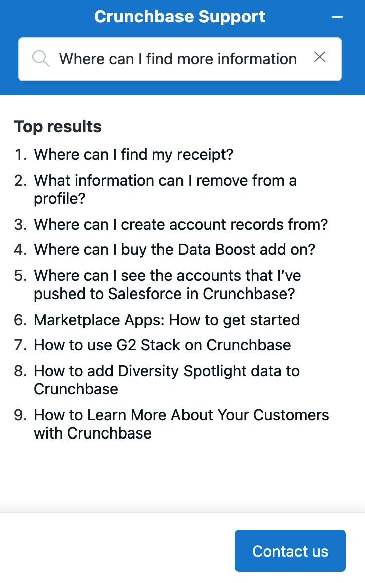 crunchbase support