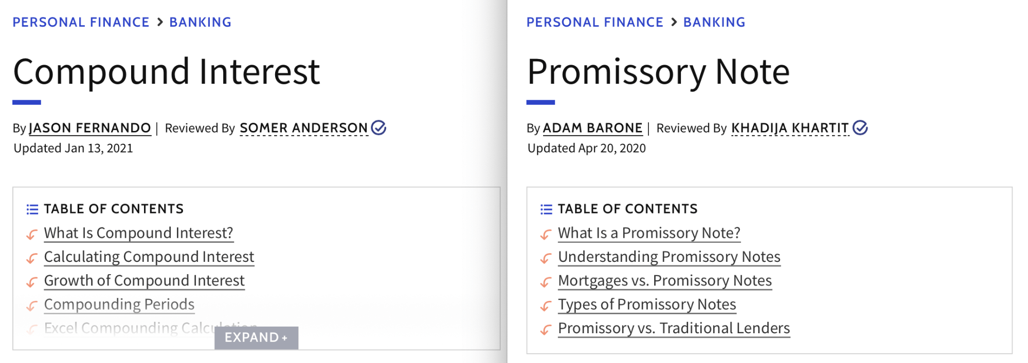 compound interest vs promissory note