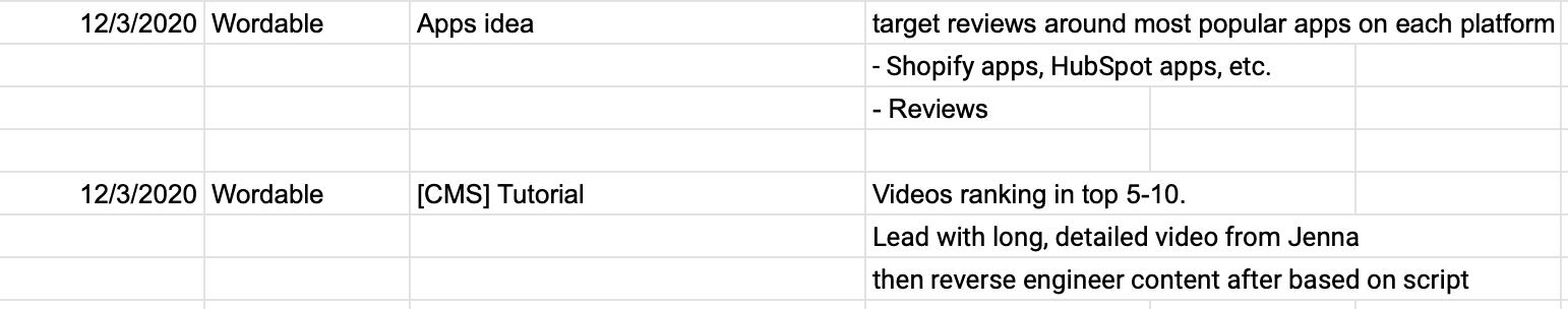 """screenshot of sample separate """"Research Log"""" tab"""