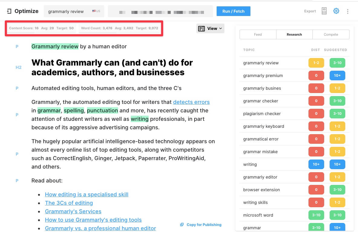 page-level optimization