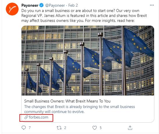 Payoneer tweet