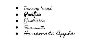 popular script fonts