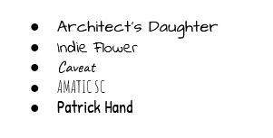 popular handwritten fonts