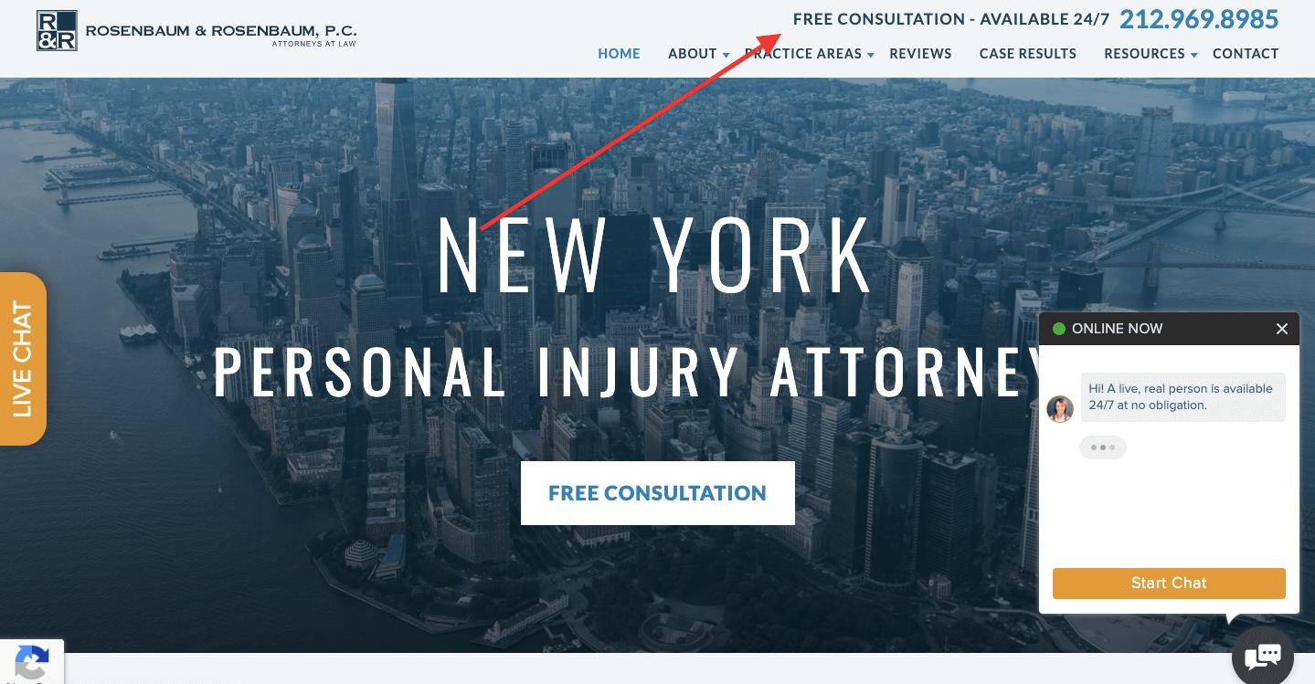 Rosenbaum&Rosenbaum home page sample consultation