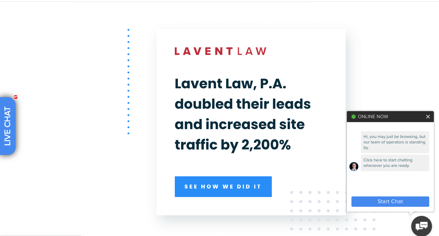 sample blog post case study from LawRank