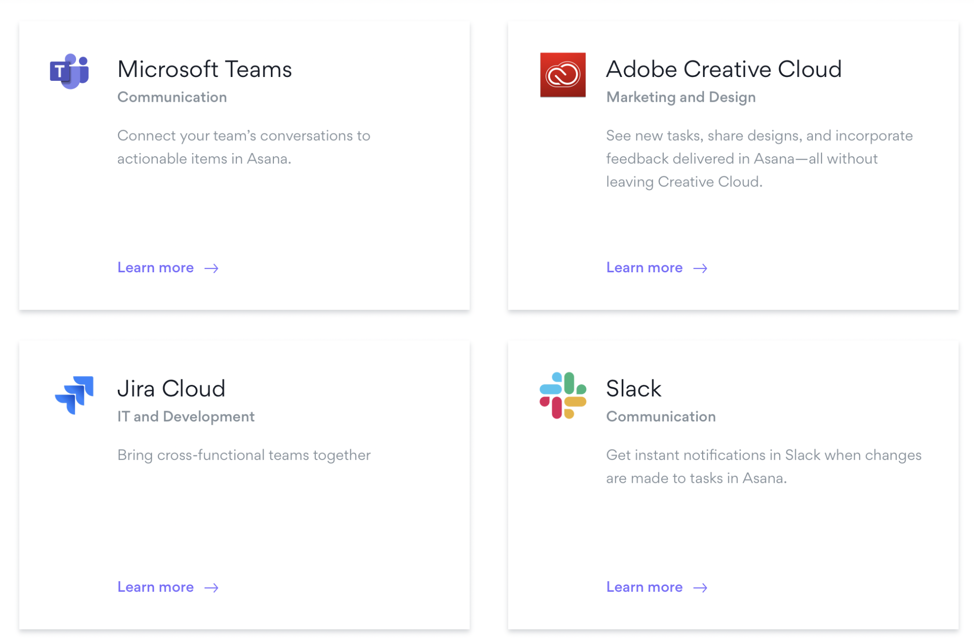 Apps you can integrate with Asana