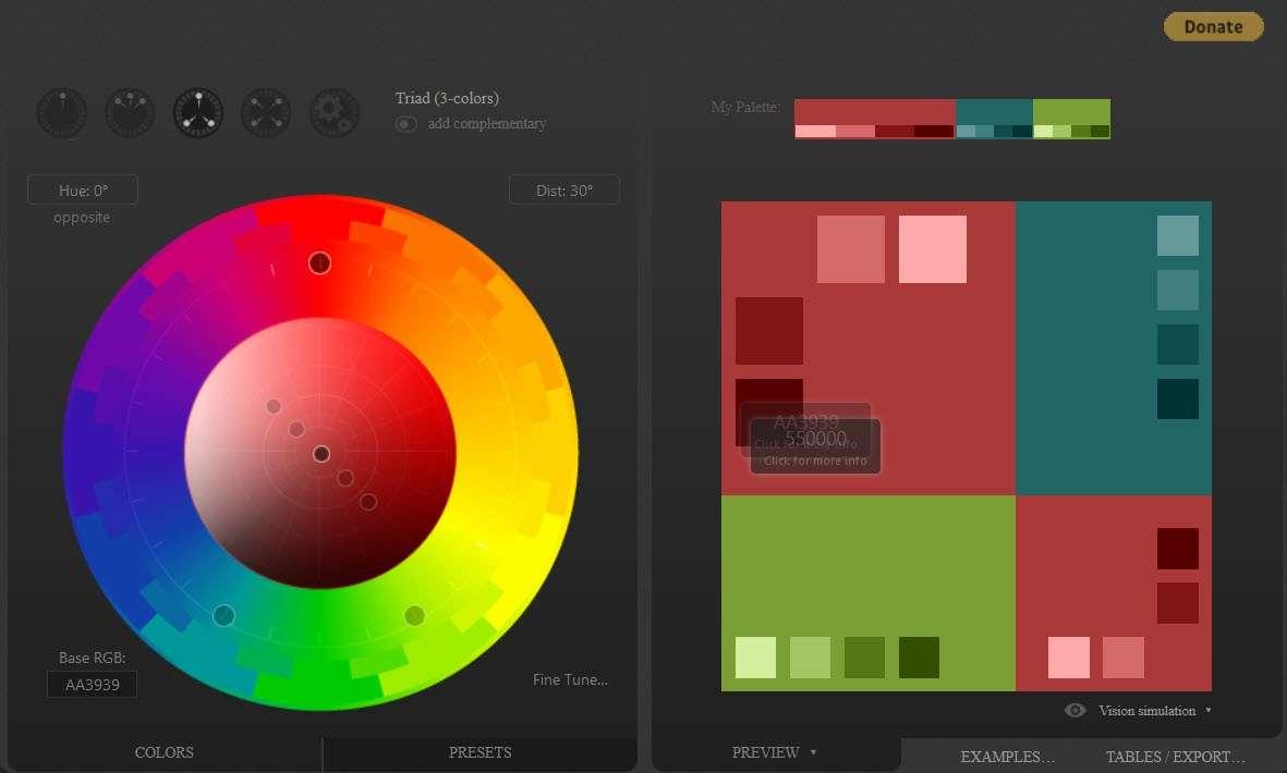 selecting color scheme