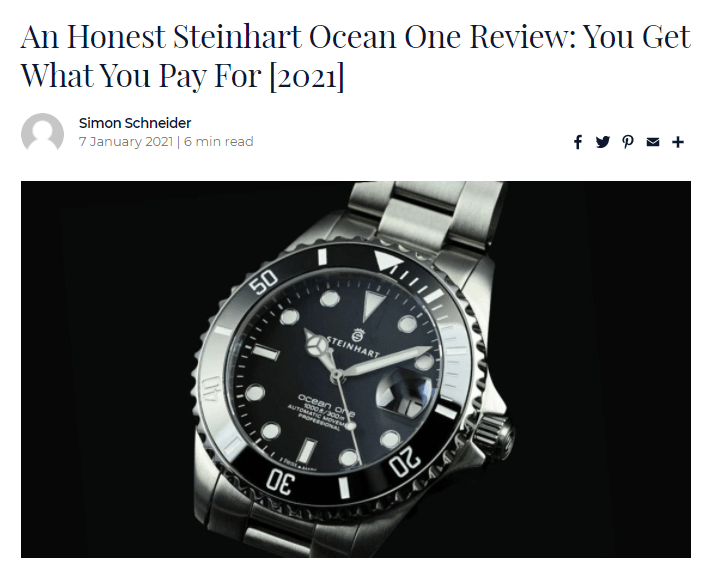 An honest Steinhart Ocean One review