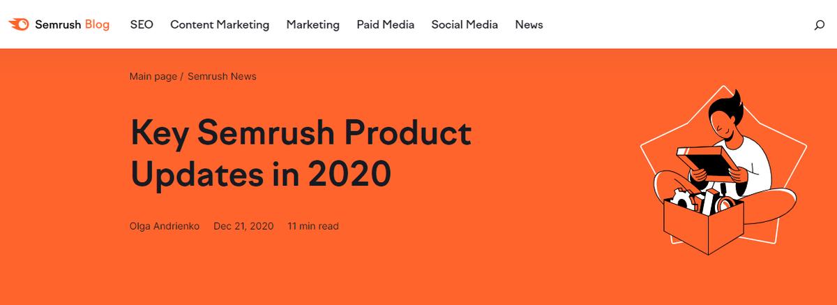 Semrush Updates 2020