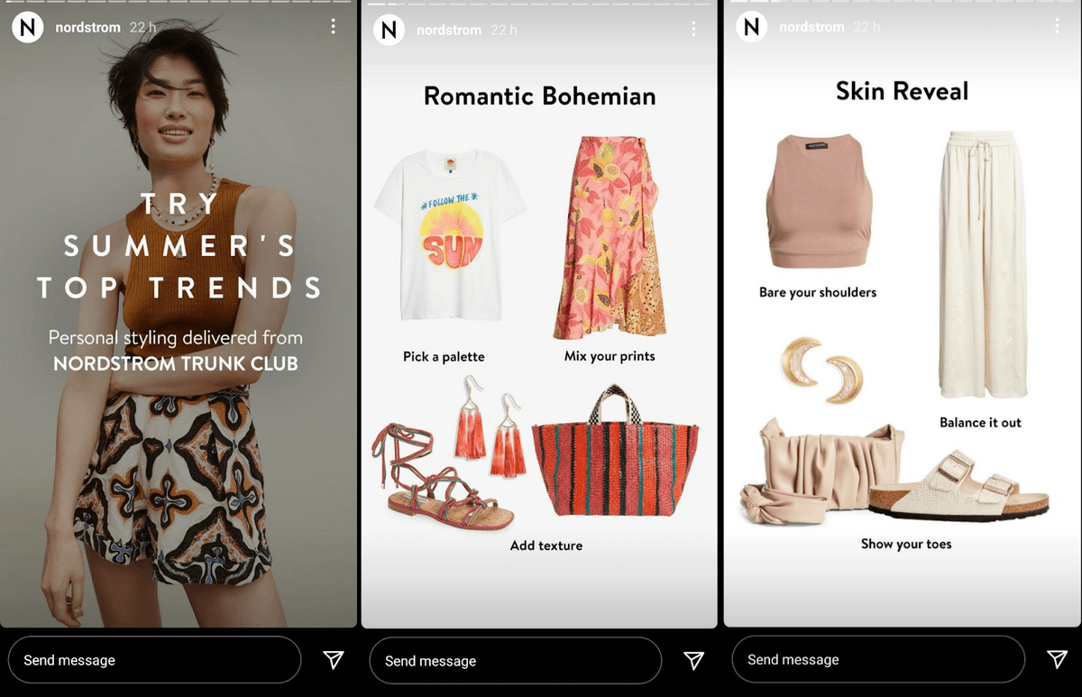 sample product page from NordStrom