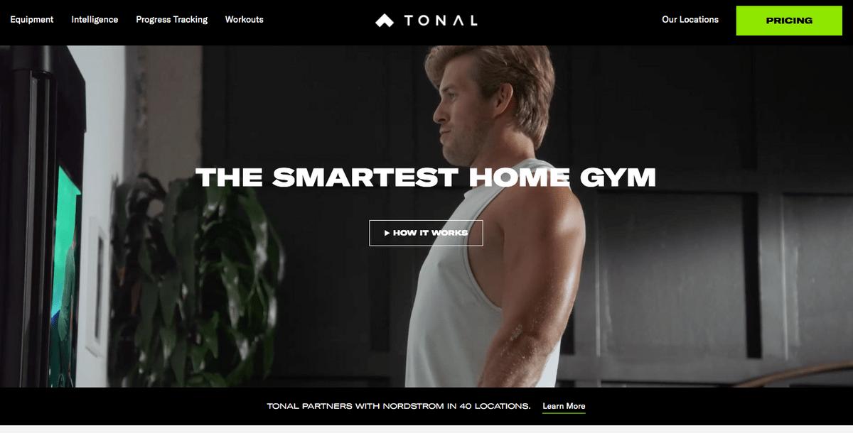 Tonal homepage