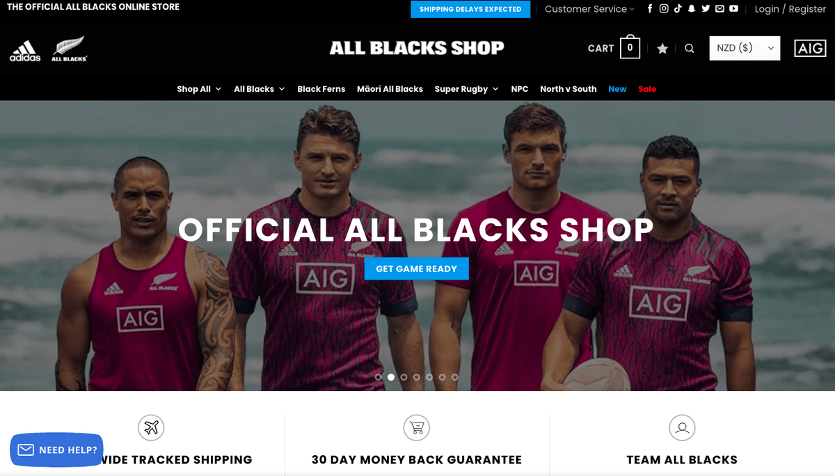 Official All Blacks homepage
