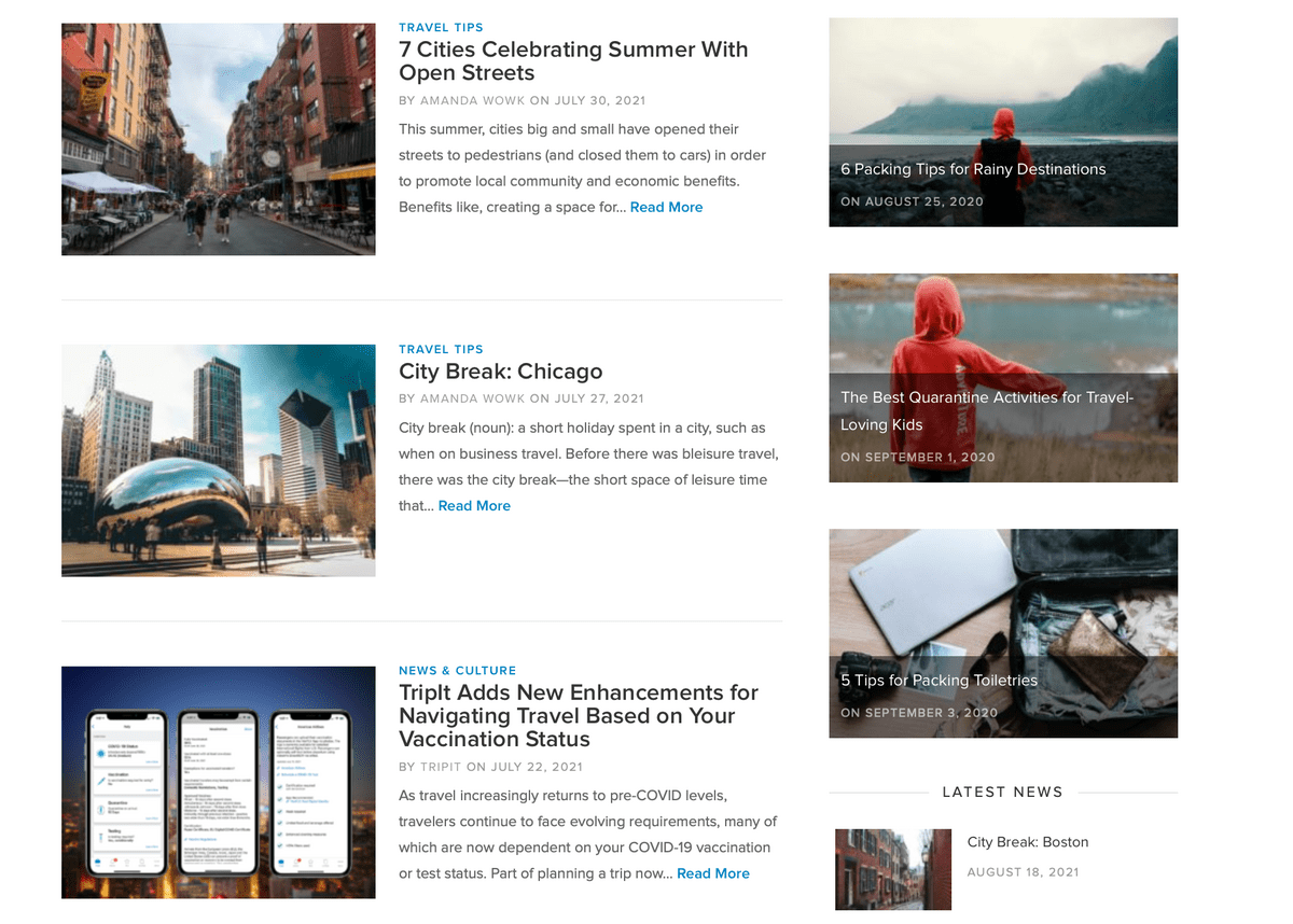 TripIt content marketing example for travel brands